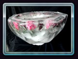 Punch Bowl with Flowers